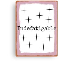 Indefatigable with Brown and Violet Border Canvas Print