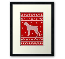 Boxer Monochrome Ugly Christmas Sweater Framed Print