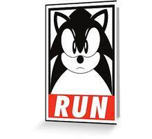 Sonic Run 2 Greeting Card