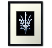 Warriors blue team Framed Print