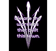 Warriors purple team Photographic Print