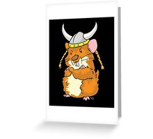 The Mighty Viking Hamster Greeting Card