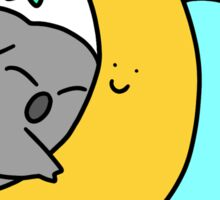 Koala Hugging a Crescent Moon Sticker