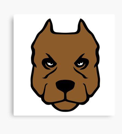 American Pit Bull Terrier pitbull chien dog Canvas Print