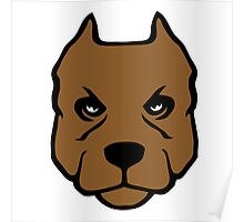 American Pit Bull Terrier pitbull chien dog Poster