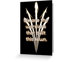 Warriors Gold Greeting Card
