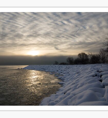 Cold, Moody and Fabulous - a Winter Morning on the Lake Shore Sticker