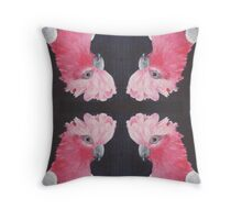 Flaming Galah Painting Throw Pillow