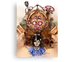 Bioshock Big Daddy and Little Sister limited apparel Canvas Print