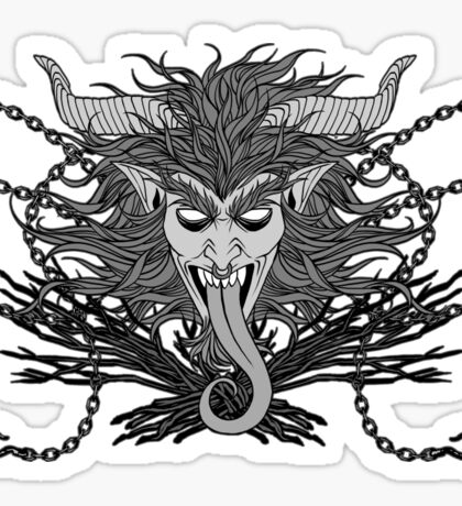 Krampus(Grayscale) - LIMITED TIME ONLY Sticker