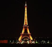 Eiffel Tower at Night. by GeorgeOne