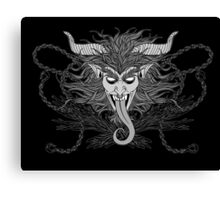 Krampus(Grayscale) - LIMITED TIME ONLY Canvas Print