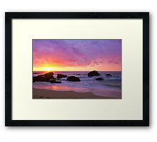 Merewether Beach Sunrise Framed Print