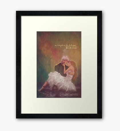 So I stayed in the darkness with you Framed Print