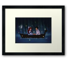 Kiss The Girl Framed Print