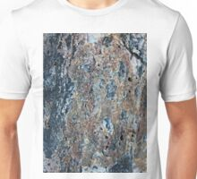 Blue and Raw Sienna Mineral Unisex T-Shirt