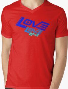 LOVE! LOVE! LOVE! Mens V-Neck T-Shirt