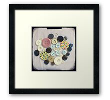 Buttons - ttv photograph Framed Print