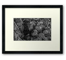 Rocks of Giants Causeway -Northern Ireland #1 Framed Print