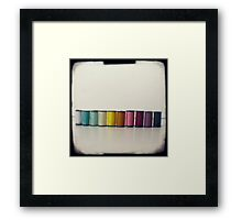 Rainbow threads Framed Print