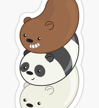 We Bare Bears Beans Sticker
