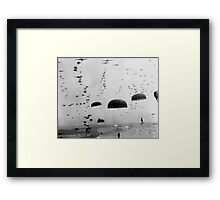 Allied Airborne Troops Parachuting - WWII Framed Print