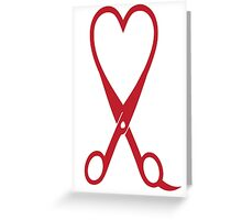 Awesome Heart and Shears Love T-Shirt for Hair Stylists Greeting Card