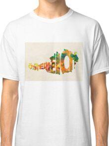 Austria Typographic Watercolor Map Classic T-Shirt