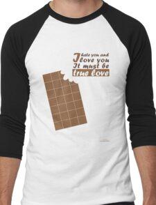 Chocolate Men's Baseball ¾ T-Shirt