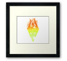 Man in the Fire Framed Print