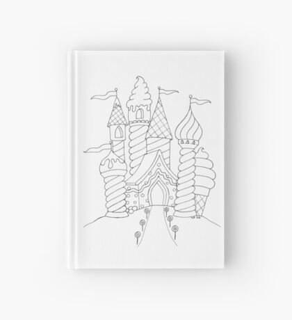 """""""Just add color"""" Candy Castle Hardcover Journal"""