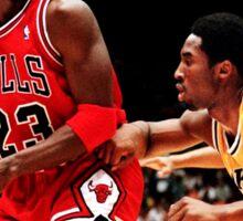 Jordan vs Kobe Sticker