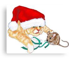 Kitty Claus  Canvas Print