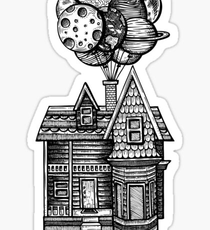 Up, Up and Away Sticker