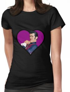 i love you robbie rotten face  Womens Fitted T-Shirt
