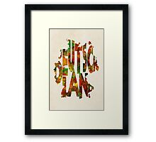 Germany Typographic Watercolor Map Framed Print