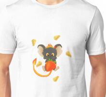 Cute Mouse With A Berry Unisex T-Shirt