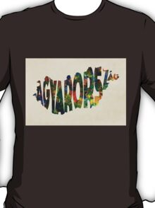 Hungary Typographic Watercolor Map T-Shirt