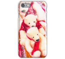 Sled with Papa Bear iPhone Case/Skin