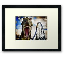 Tyranno-Force Rex Framed Print