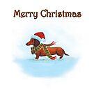 Dachshund Christmas Card by dvampyrelestat