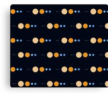 Planets to scale pattern Canvas Print