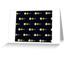 Planets to scale pattern Greeting Card