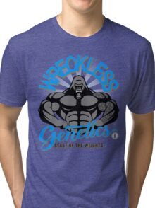 Wreckless Genetics 'Beast of the Weights' GRY TEE Tri-blend T-Shirt