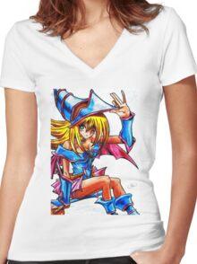 Dark magician girl Women's Fitted V-Neck T-Shirt