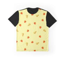 Cheese And Strawberries Graphic T-Shirt