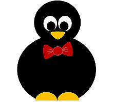 cute little penguin with bow tie Photographic Print