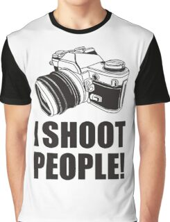 I Shoot People Funny Photographer TEE Camera Photography Digital Photo Graphic T-Shirt
