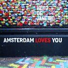 Amsterdam Loves You Street Art Graffiti  by silvianeto