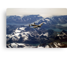 Lancaster over Greenland Canvas Print
